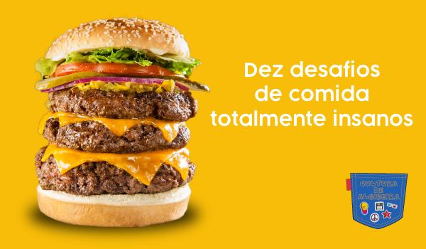 Dez desafios de comida totalmente insanos - Cultura de Algibeira, Algibeira, Bolso, Cultura