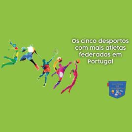 cinco desportos mais atletas federados Portugal Cultura Algibeira