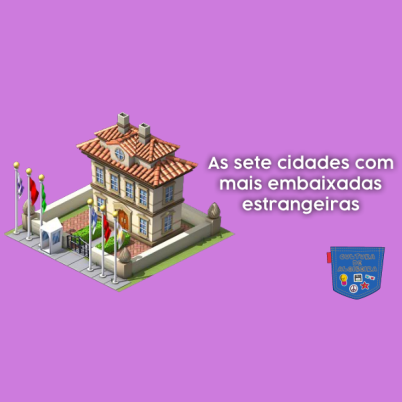 7 cidades com mais embaixadas estrangeiras - Cultura de Algibeira