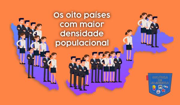 oito países maior densidade populacional Cultura de Algibeira