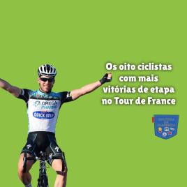 8 ciclistas mais vitórias etapa Tour de France Cultura Algibeira