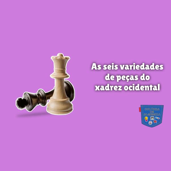 As seis variedades peças xadrez ocidental Cultura de Algibeira
