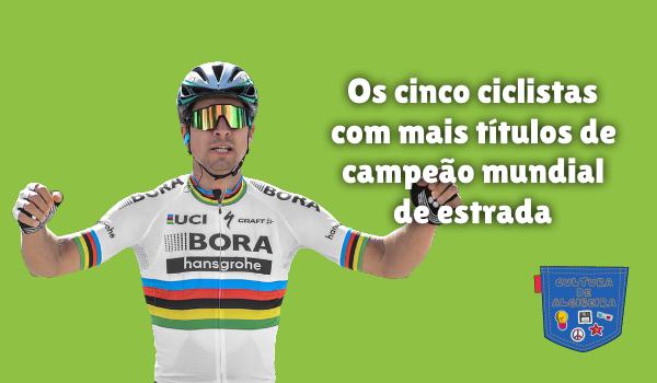 5 ciclistas mais títulos campeão mundo estrada Cultura Algibeira
