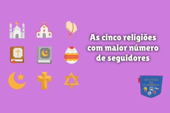 cinco religiões maior número seguidores Cultura de Algibeira