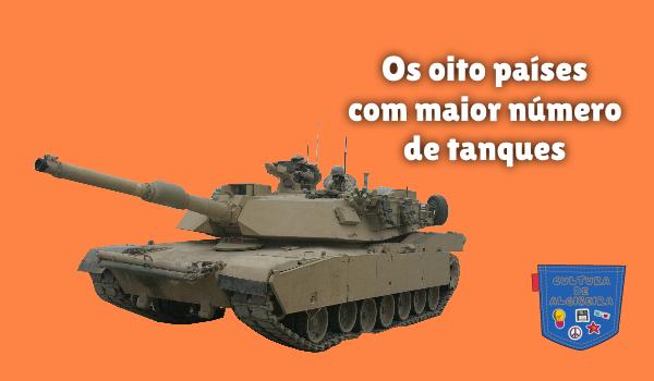 Os oito países com maior número de tanques Cultura de Algibeira