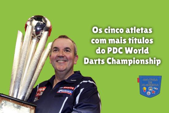 5 atletas mais títulos PDC World Darts Cultura de Algibeira