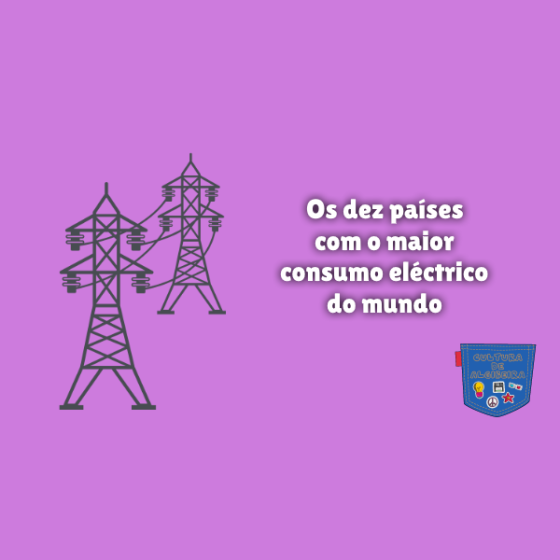 dez países maior consumo eléctrico mundo Cultura de Algibeira