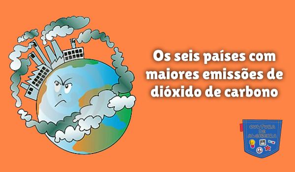 6 países mais emissões dióxido carbono Cultura de Algibeira