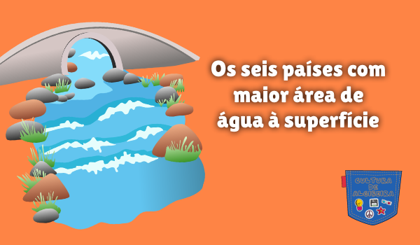 seis países maior área água superfície Cultura de Algibeira