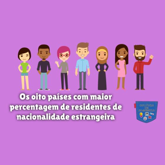país maior percentagem residente estrangeiro Cultura de Algibeira