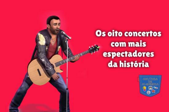 oito concertos mais espectadores história Cultura de Algibeira