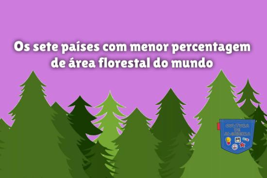 7 país menor percentagem área floresta mundo Cultura de Algibeira