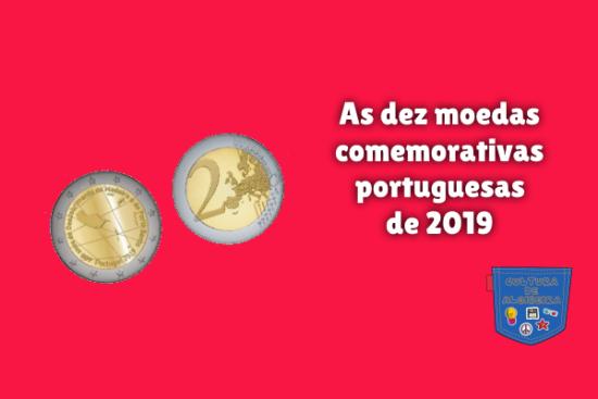 dez moedas comemorativas portuguesas 2019 Cultura de Algibeira