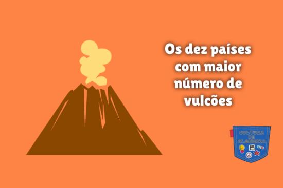 Os dez países com maior número de vulcões Cultura de Algibeira