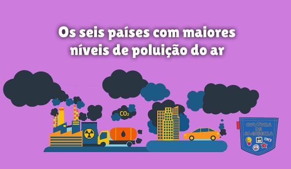 seis países maiores níveis poluição do ar Cultura de Algibeira