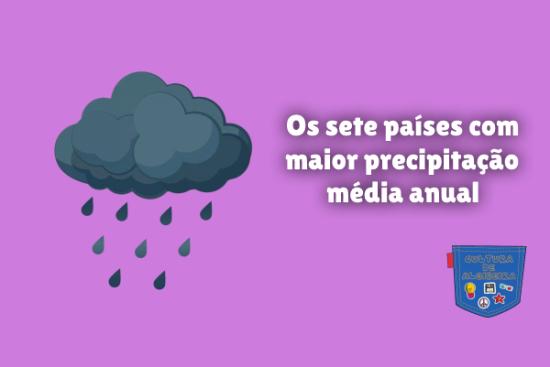 sete países maior precipitação média anual Cultura de Algibeira