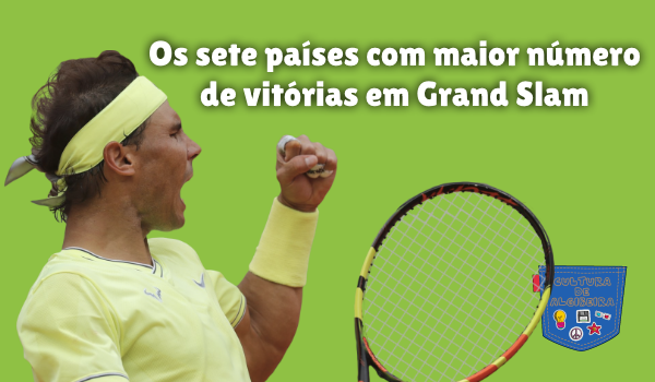 sete países maior número vitórias Grand Slam Cultura de Algibeira