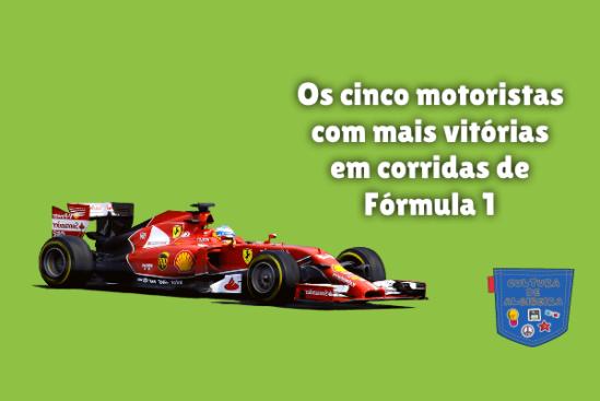 cinco motoristas mais vitórias corridas F1 Cultura de Algibeira