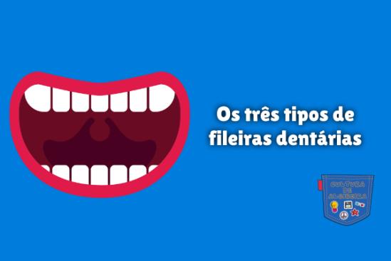 Os três tipos de fileiras dentárias Cultura de Algibeira
