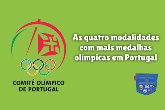 modalidades mais medalhas olímpicas Portugal Cultura de Algibeira