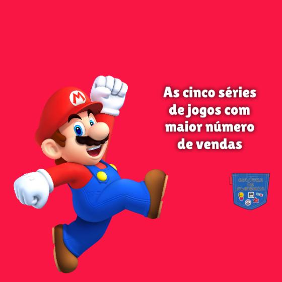 cinco séries jogos maior número vendas Cultura de Algibeira