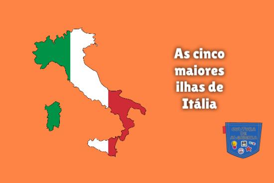 As cinco maiores ilhas de Itália Cultura de Algibeira