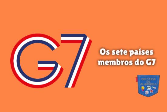Os sete países membros do G7 Cultura de Algibeira